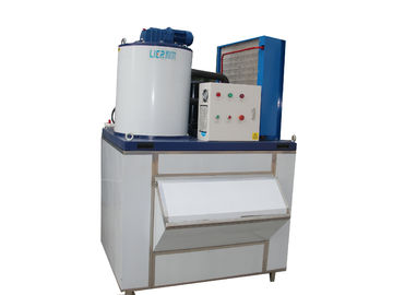 Cina Air Cooling Flake Ice Maker Commercial Machine For Meat / Dair pemasok