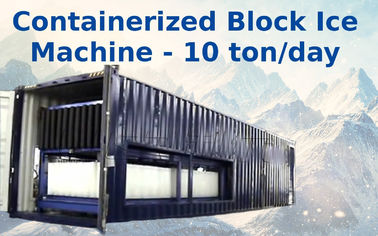 Cina Air Cooling Containerized Block Ice Plant With Bitzer / Copeland Compressor Distributor